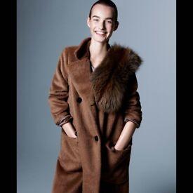 Carolina Herrera alpaca wool brown oversized coat generous M £880