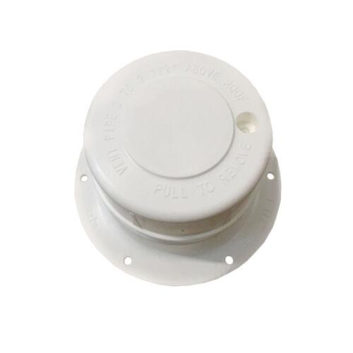 """WHITE Plastic Attic/Plumbing Vent Cover 1-1/2"""" Pipe Diameter RV Trailer"""