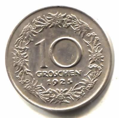 Austria 1925 10 Groschen Coin - Republic Osterreich
