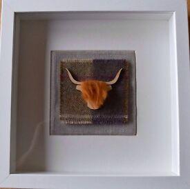 Beautiful Hand-made Scottish Tartan Pictures Quality Moon fabric ideal Xmas Present / Secret Santa