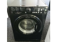 b154 black hotpoint 8kg 1500 spin washing machine comes with warranty can be delivered or collected