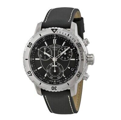 Brand New Tissot T067.417.16.051.00 PRS 200 Black Leather Chronograph Mens Watch
