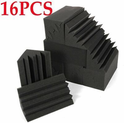 16 PACK Corner Bass Soundproof Acoustic Noise Trap Studio Foam Sound Panel