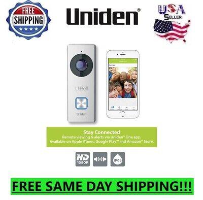 Uniden Wireless Doorbell 1080p Wifi Full HD 2-Way Audio door bell 180 View Video