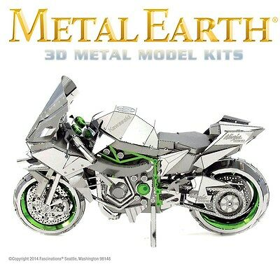 Fascinations Metal Earth ICONX Kawasaki Ninja H2R Motorcycle 3D Model Kit
