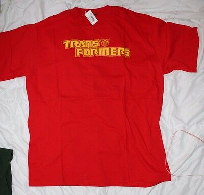 TRANSFORMERS LOGO VINTAGE T SHIRT NEW NWT XL TEE 90s