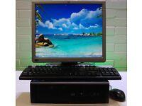 """With 17"""" 4GB Ram DDR3, HP PC Desktop, AMD 3.0GHz, 250GB HD, WiFi"""