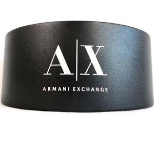 Armani Exchange Eyeglass Black Hard Sunglasses Large Case w/CLEANING CLOTH