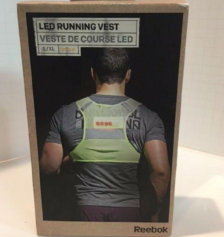 Reebok Reflective LED Running Vest - Unisex - L/XL - New in Box