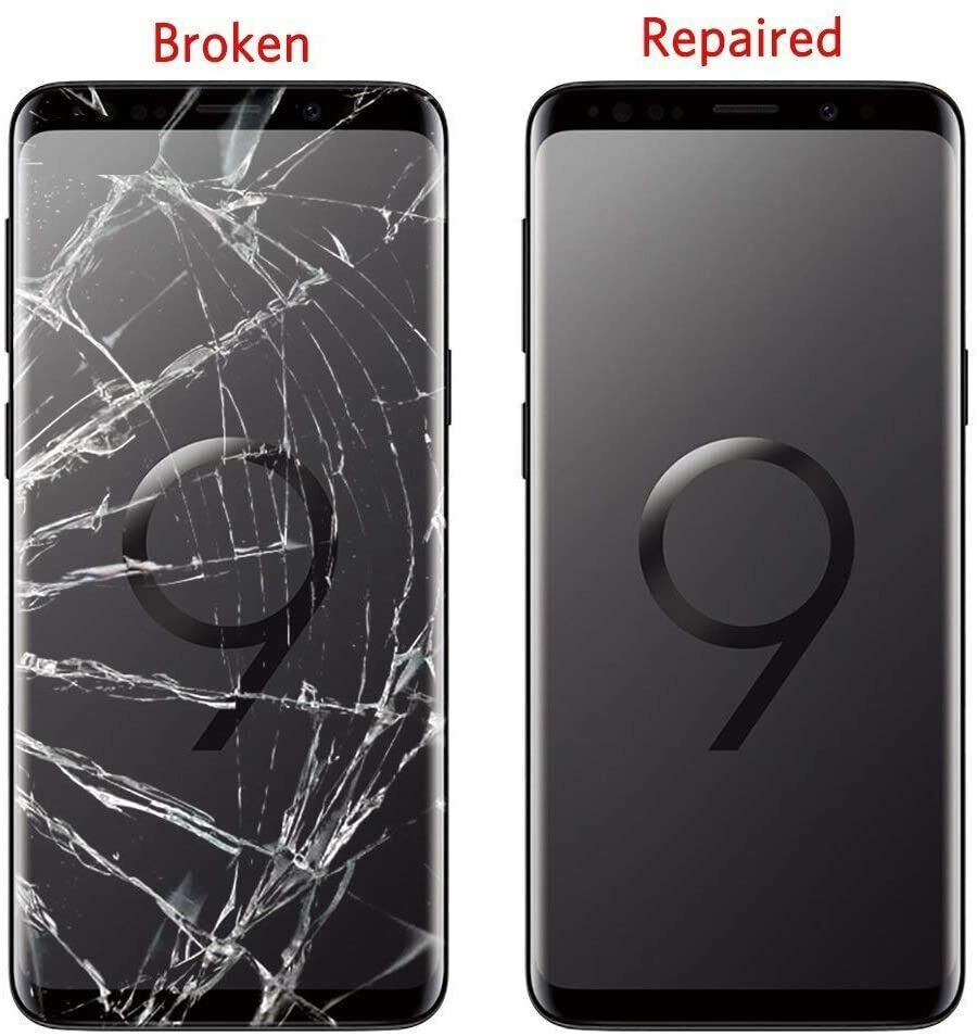 Samsung Galaxy S9 Cracked Screen Front Glass Repair Service - $72.99