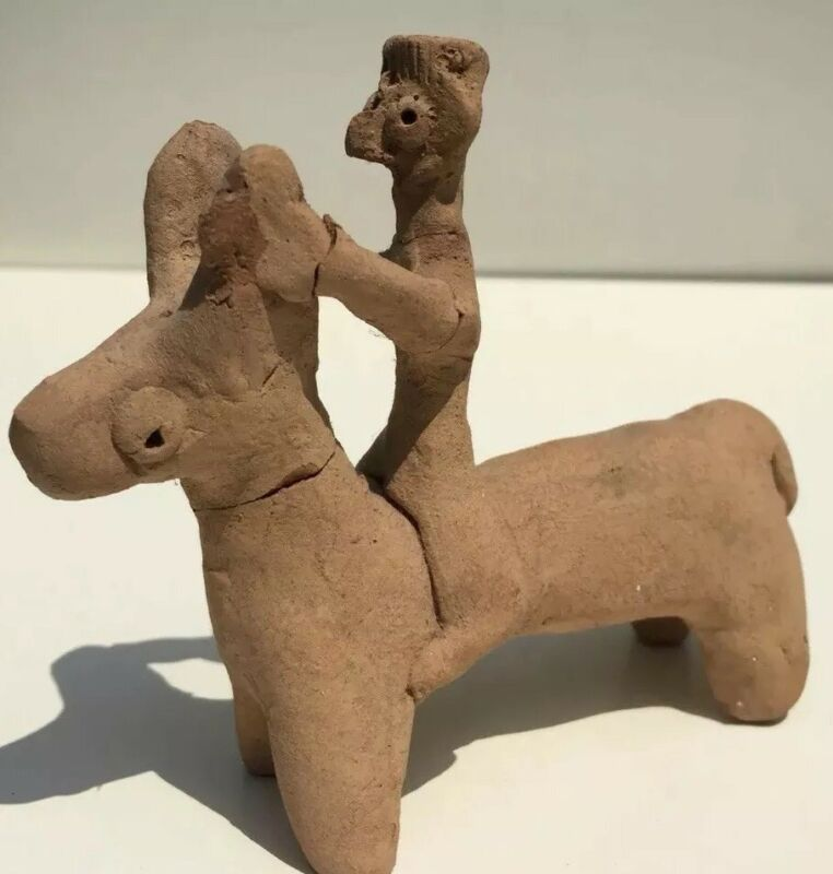 Syro-Hittite Terracotta Horse with Rider 1200 BC with COA