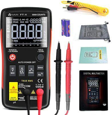 Digital Multimeter Meter Amp Ohm Voltmeter Auto Range Tester Ac Dc Current Us