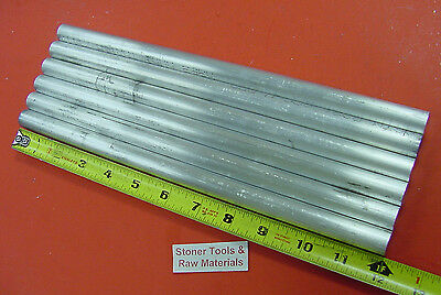 6 Pieces 58 Aluminum 6061 Round Rod Solid Bar 12 Long Extruded Lathe Stock