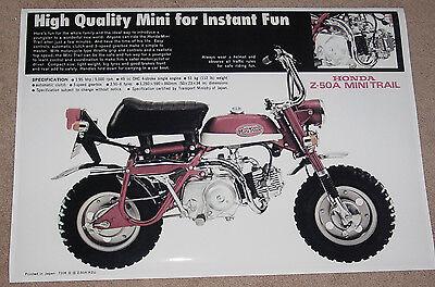 1970 1971 HONDA CT70 CT70H KO VINTAGE MOTORCYCLE POSTER STYLE B 24x24 9MIL PAPER