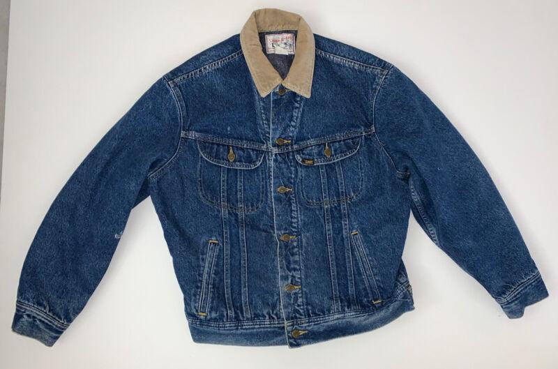 Vintage Lee Storm Rider Blanket Lined Denim Jacket Size Mens Medium