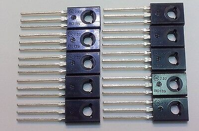 10 Pcs Bd139 New Genuine On Semiconductor Npn Transistor 1.5a 80v To-126