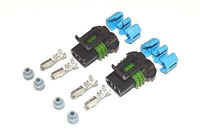 Delphi Metri-pack Female 2-pin 280 Series Connector W Terminals 14 Ga 2 Sets