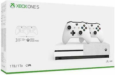 Microsoft Xbox One S Two-Controller Bundle 1TB Gaming Console NEW