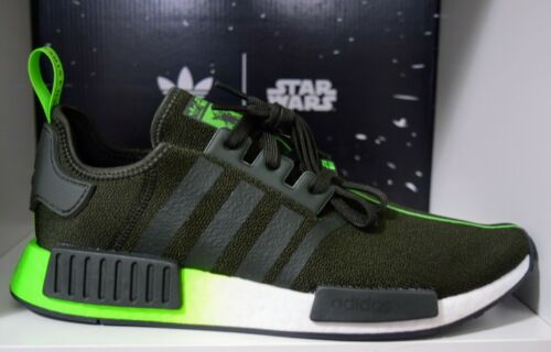 "Adidas NMD R1 ""Yoda"" Star Wars size 9.5US 9UK black/green BRAND NEW"