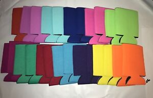 Mixed Can Cooler Huggie Koozie Blank Lot 25 Blue Pink Yellow Orange Black Coozie
