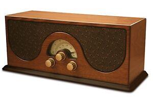 Retro Radio Nostalgie Radioanlage Kofferradio Vintage Küchenradio Holzradio NEU