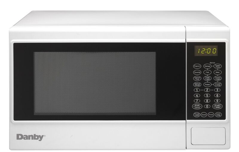 Danby 1.4 Cu. Ft. Mid-Size Microwave White DMW14SA1WDB