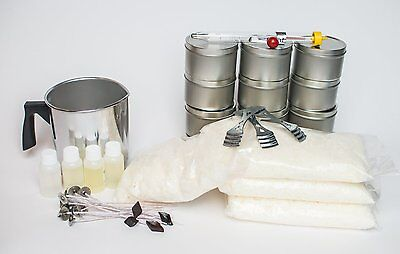 Soy Wax Candle Kit- Great for small groups make 12 Tins -Free Shipping