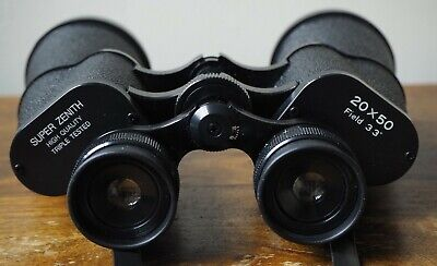 Super Zenith High Quality 20 x 50 Triple Tested Binoculars Field 3 - VGC
