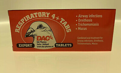 Dac Respiratory 4+ 50 tabs (5 in 1 tablets) for Pigeons