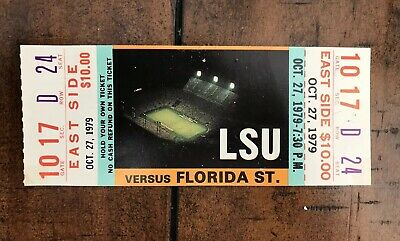 1979 LSU Vs. Florida State Football Ticket - LSU Vs. Florida St. FSU Seminoles! - Florida Vs Fsu