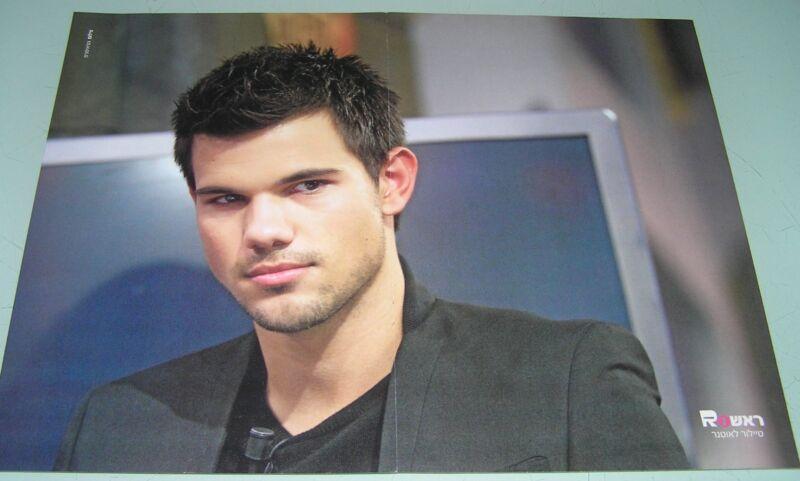 Taylor Lautner RARE ISRAEL ISRAELI HUGE PINUP MAGAZINE POSTER