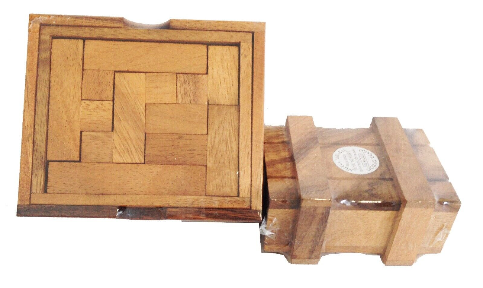 Knobel- Denkspiele 2er Set Holz Magic Box / Double Square Puzzle