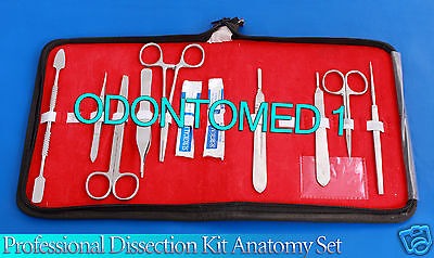 Professional Dissection Kit Anatomy Set Medical Surgical Instruments 10pc Ds-739