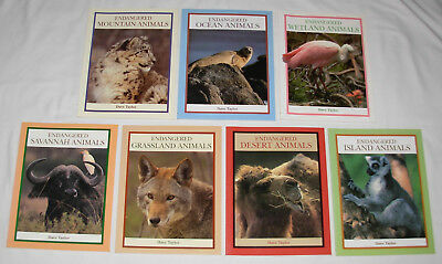 New : Endangered Animals Series 7 Books - Endangered Book