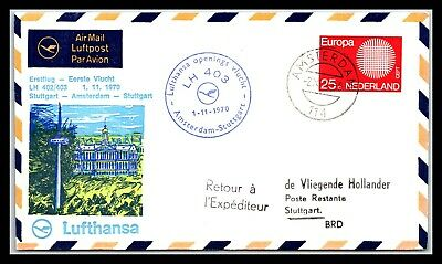 GP GOLDPATH: NETHERLANDS COVER 1970 AIR MAIL _CV672_P14