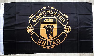 Manchester United3X5FT Black Premier Football Soccer FlagBanner Gold Premium/322