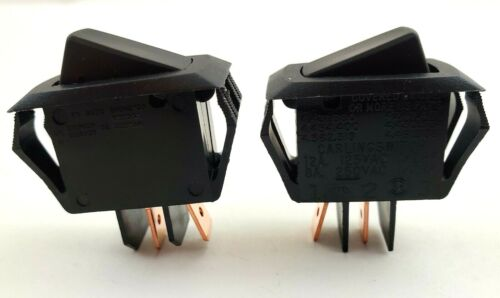 Lot of 2 Carling Two Position Momentary Rocker Switches SPST 10A/250V 16A/125V