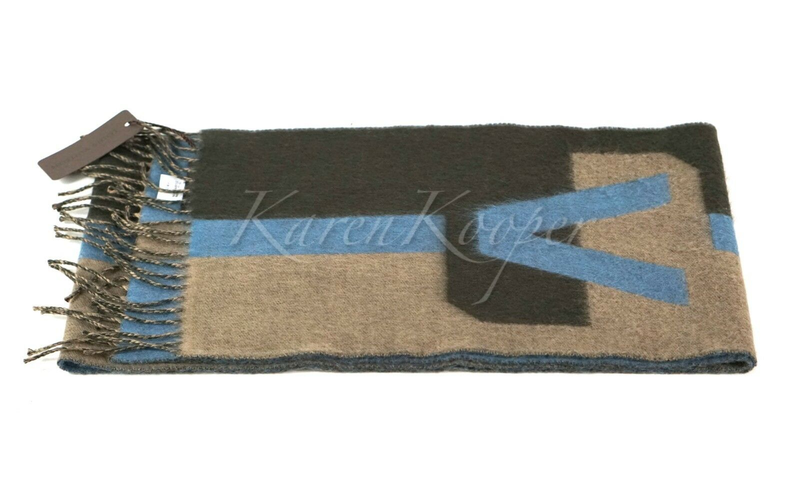 96a08f2602b AUTHENTIC LOUIS VUITTON V HISTORIQUE CASHMERE SCARF NEW WITH TAGS фото