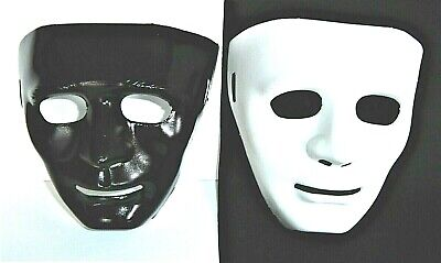 CARNIVAL MASKS MASQUERADE HALLOWEEN BLACK & WHITE PAIR OR SINGLE PARTY MASK NEW ()