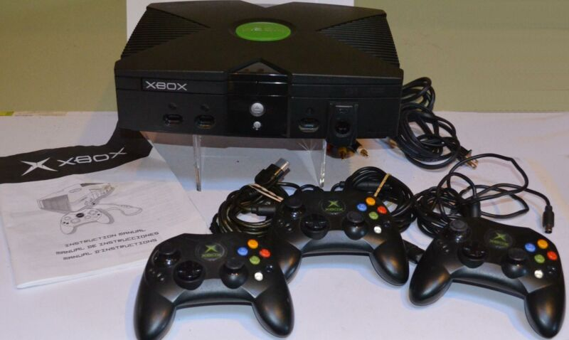 Original Xbox Microsoft Console Video Game System Controller &  26 GAME LOT