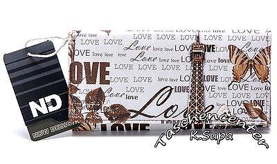 Top Geldbörsen (New Design Damenbörse Geldbörse, TOP TRENDY, Love in Paris, Herbst, Blätter)