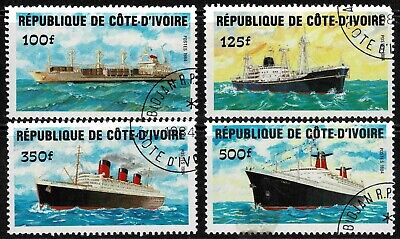 Ivory Coast 1984 Ships Set Of Four Stamps - MUH/CTO