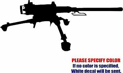 Vinyl Decal Sticker - Us Army M2 Machine Gun Car Truck Bumper Laptop Jdm Fun 7