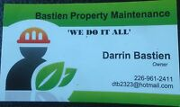 "Bastien Property Maintenance "" SAVE MONEY """