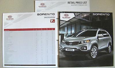 KIA SORENTO 2010 RANGE CAR BROCHURE + SPECIFICATION + PRICE LIST. KX-1 KX-2 KX-3 comprar usado  Enviando para Brazil