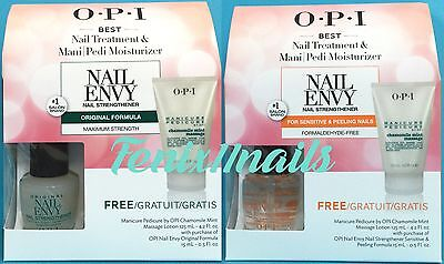 Opi Nail Envy   Free Manicure Massage Lotion Set Pick Original Or Sensitive Nib