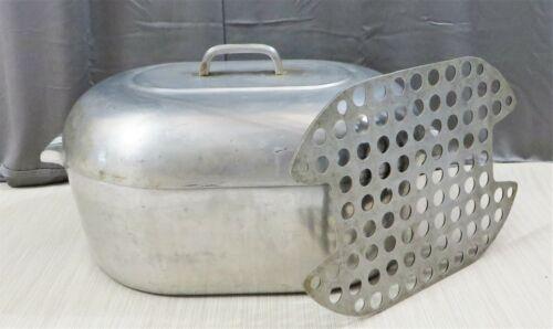 Vintage WAGNER WARE Sidney -O- Magnalite 4269-M 17 qt Roasting Pan with Trivet