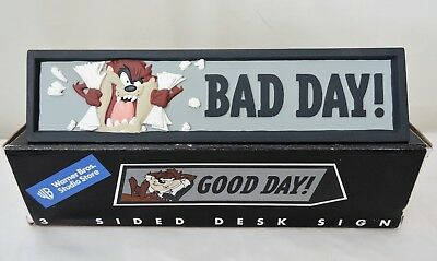Vintage 1998 Warner Bros Studio Store Tasmanian Devil 3 Sided Desk Sign 10""