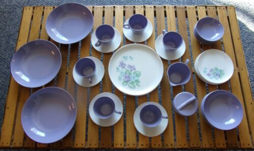 42 Pc Service For 6 Royalon Melmac Corsage Dinnerware Serve Bowls Sugar Creamer