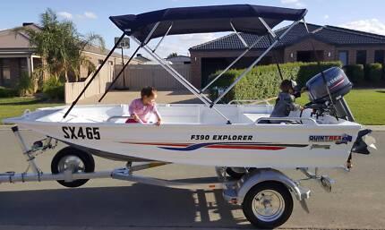 Boat Quintrex F390 Explorer Yamaha 30hp Elec start Like New